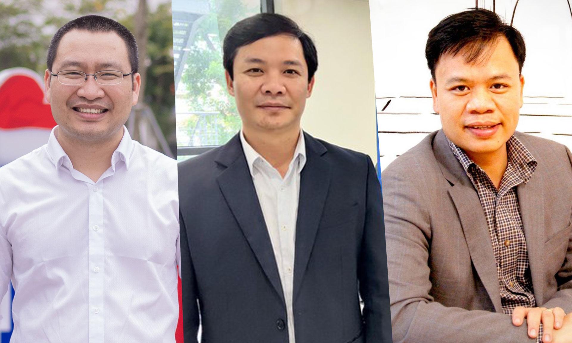 Từ trái qua phải: Ông Lê Anh Sơn, ông Nguyễn Trường Nam, ông Nguyễn Thế Trung.