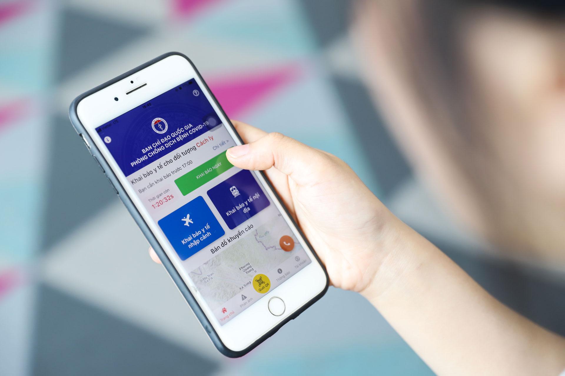 Màn hình chính của ứng dụng VHD sẽ đếm ngược thời gian thực hiện khai báo y tế tiếp theo cho người dùng. Ứng dụng cũng sẽ gửi thông báo nếu người dùng quên khai báo.