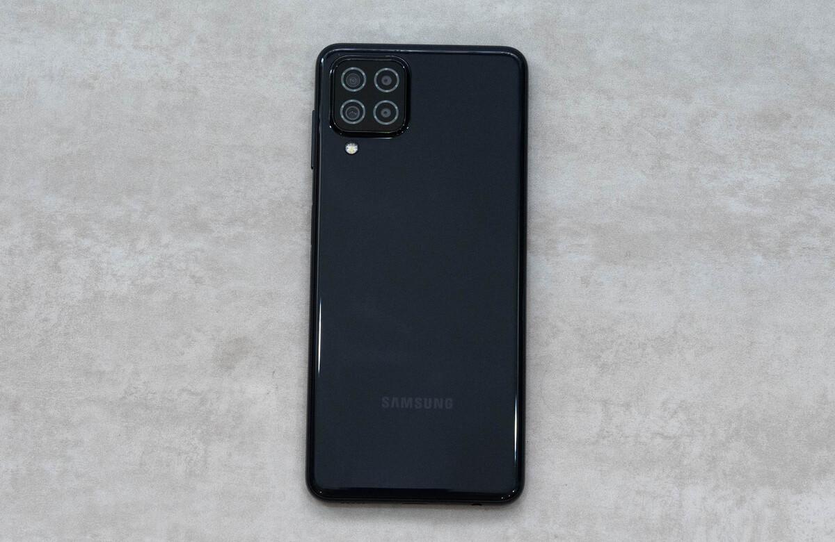 Samsung trang bị cho Galaxy A22 cụm 4 camera sau, hỗ trợ công nghệ chống rung quang học. Ảnh: Huy Đức.