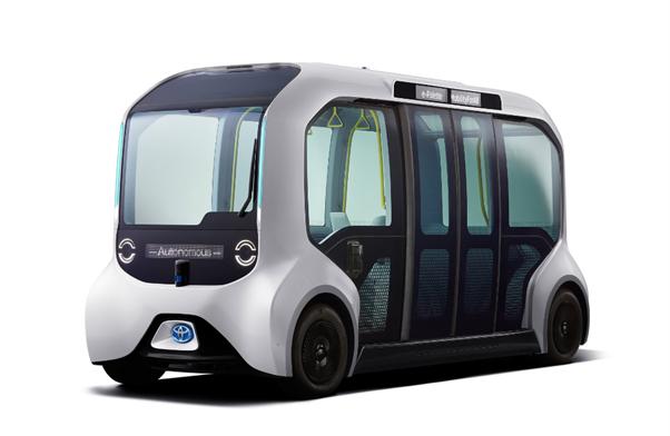 Xe điện không người lái e-Palette của Toyota tại Thế vận hội Tokyo. Ảnh: Toyota.