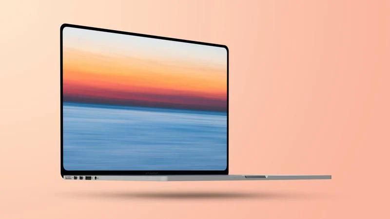 MacBook Pro mới sẽ có viền mỏng, bỏ logo ở cạnh dưới màn hình. Ảnh minh họa