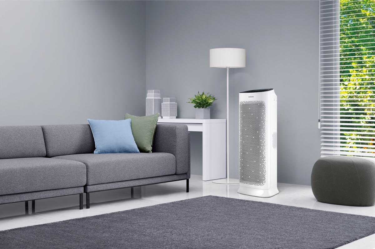 Máy lọc không khí Samsung giúp phân tán không khí sạch một cách nhẹ nhàng và yên tĩnh