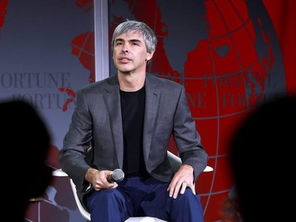 Larry Page, cựu CEO của Alphabet. Ảnh: Reuters.
