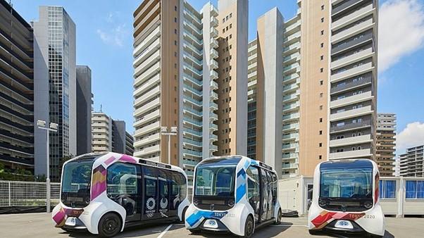 Xe điện tự hành e-Palette của Toyota hỗ trợ vận động viên di chuyển tại Olympic và Paralympic Tokyo 2020. Ảnh: IOC.