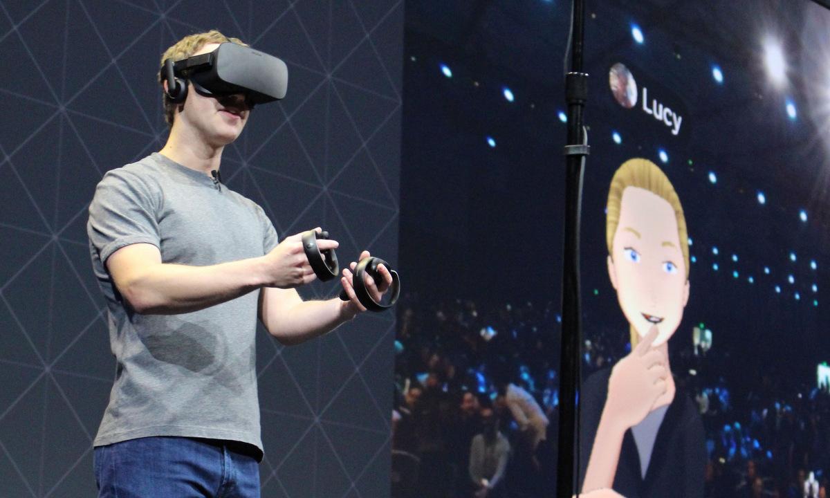 Mark Zuckerberg tại hội thảo nhà phát triển Oculus năm 2016. Ảnh: AFP.