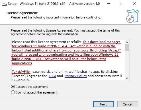 Nếu không đọc kỹ điều khoản, người dùng có thể vô tình cho phép phần mềm này cài thêm ứng dụng độc hại. Ảnh: Kaspersky