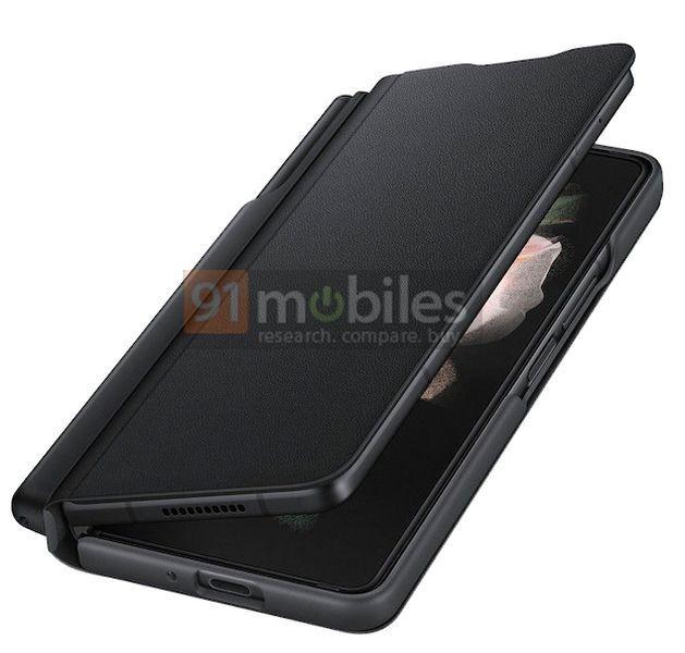 Vỏ case cho Z Fold3 có vị trí cất bút S Pen.