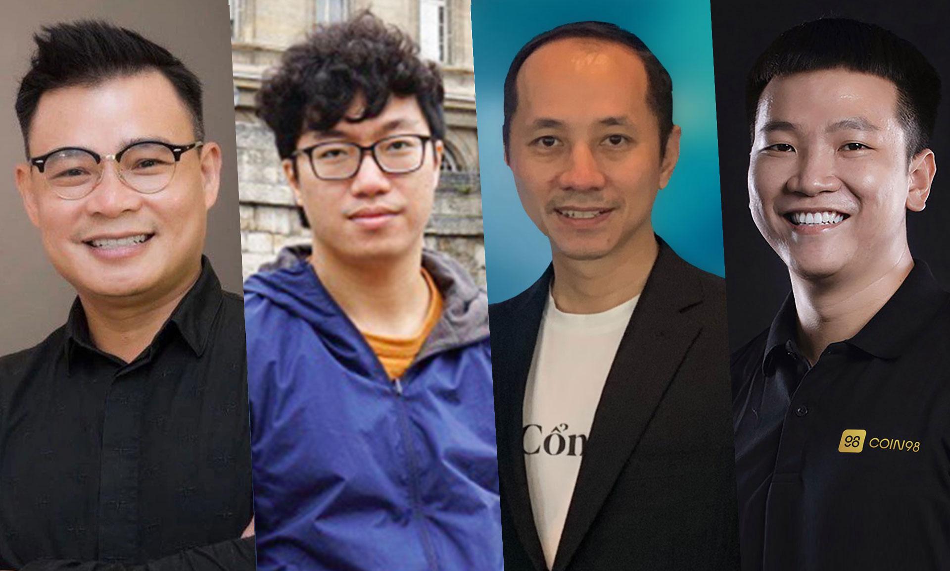 Từ trái qua phải, ông Đinh Viết Hùng, ông Nguyễn Thành Trung, ông Phạm Toàn Thắng, ông Nguyễn Thế Vinh.