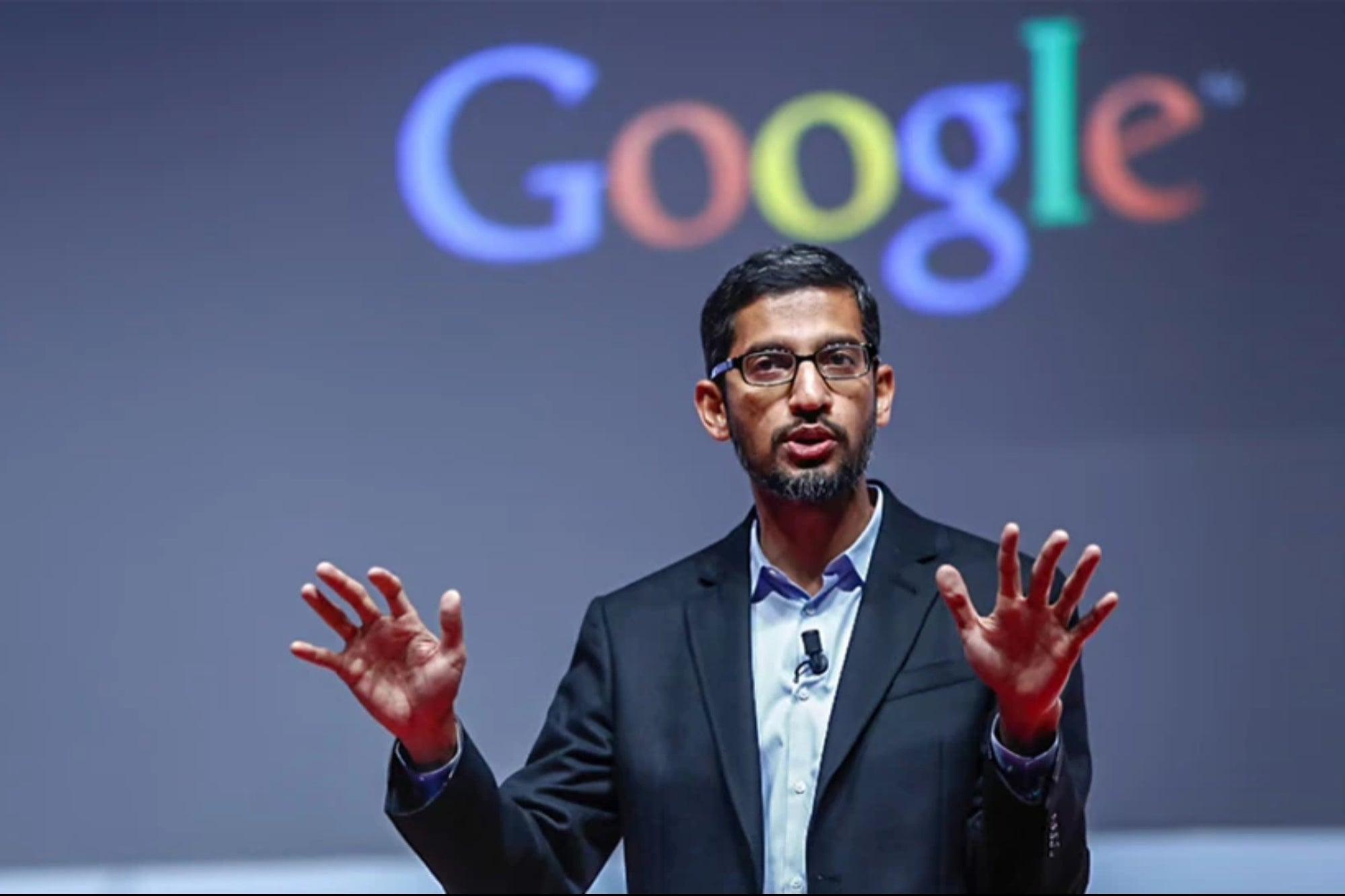 CEO Google, Sundar Pichai, tại một sự kiện hồi tháng 6. Ảnh: Google.