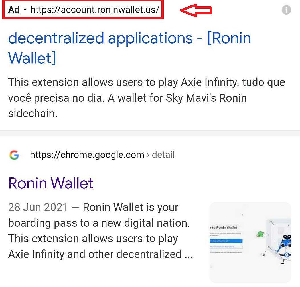 Website lừa đảo được mua quảng cáo của Google và hiển thị cao hơn website thật. Ảnh: Cyren