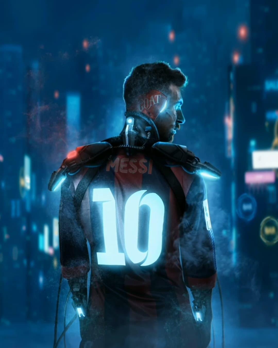 Một tác phẩm NFT về Messi. Ảnh: BossLogic.