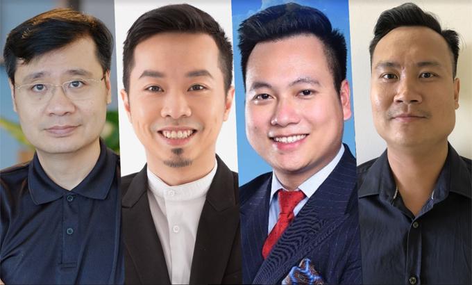 Từ trái qua phải, ông Vương Quang Long, ông Phạm Minh Trí, ông Henry Trần, ông Nguyễn Minh Tuấn.