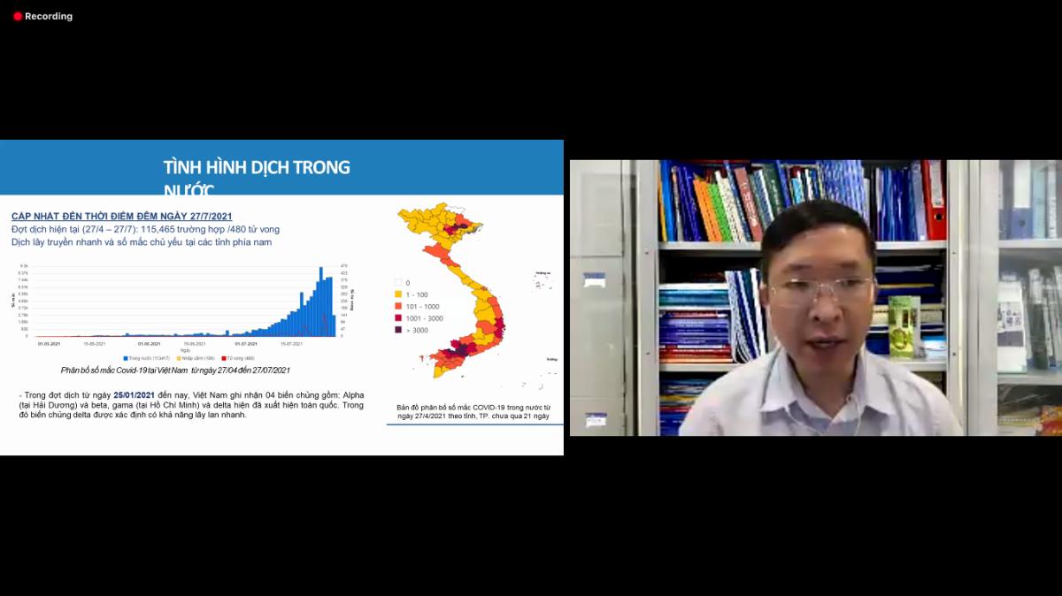 Bác sĩ Phạm Quang Thái chia sẻ về tình hình bệnh dịch tại Việt Nam tại buổi tập huấn trên nền tảng GapoWork.