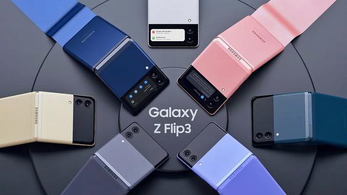 Samsung Galaxy Z Flip3 với 7 màu khác nhau trở thành smartphone có nhiều màu sắc nhất.
