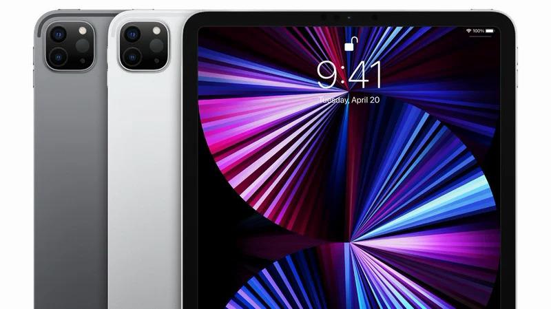 iPad Pro 2021 là chiếc iPad mới nhất của Apple. Sản phẩm sử dụng khung làm bằng nhôm tái chế. Ảnh: Apple.