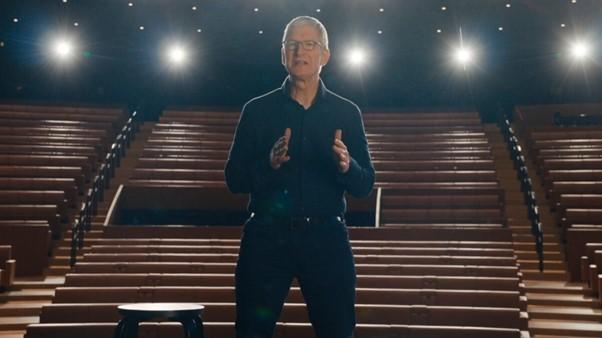 CEO Apple Tim Cook tại sự kiện Times Flies diễn ra trực tuyến năm ngoái. Ảnh: Apple