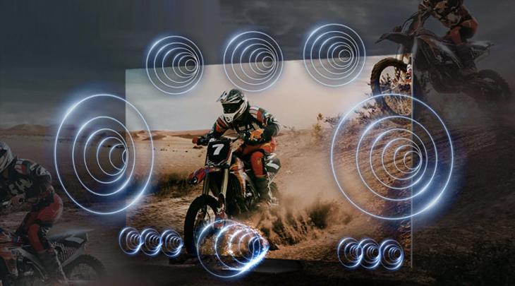 Công nghệ OTS Pro tái hiện âm thanh theo từng chuyển động.