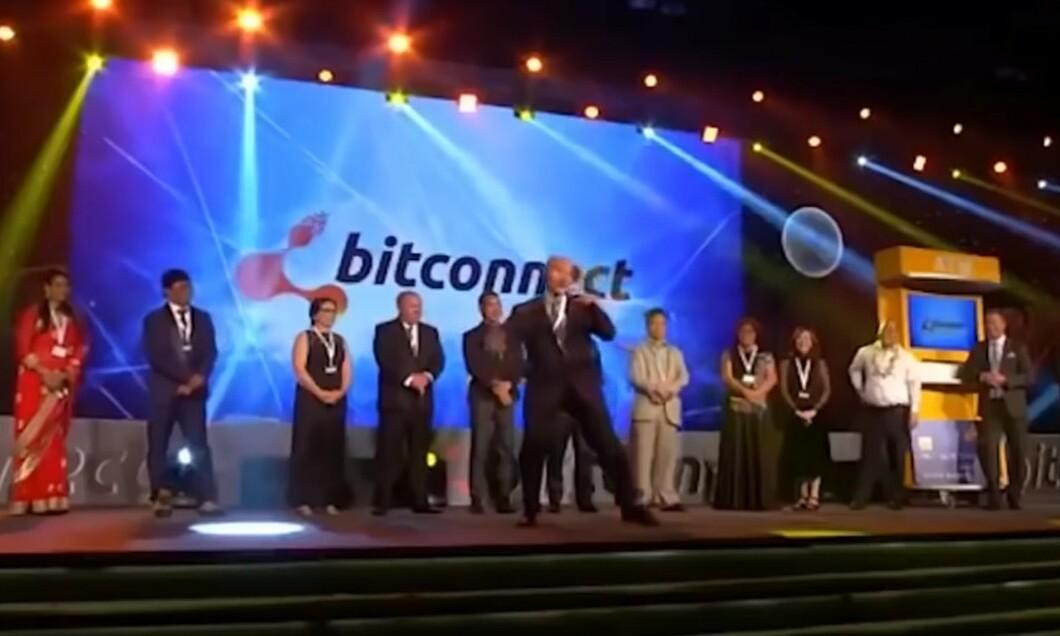 Đội ngũ môi giới BitConnect trong một video quảng bá năm 2017.