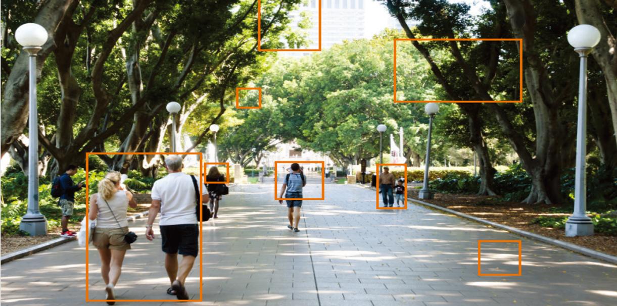 Camera AI Wisenet P-series phát hiện chuyển động dựa trên điểm ảnh.