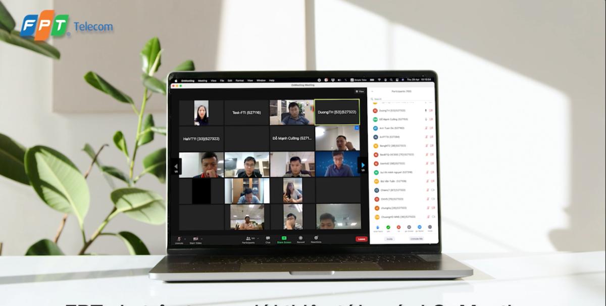 OnMeeting hỗ trợ 1.000 điểm truy cập trong một phòng họp.