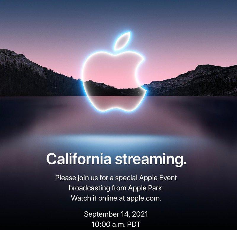 Thư mời sự kiện ra mắt iPhone mới ngày 14/9 của Apple.