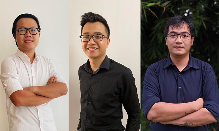 Ba diễn giả của Tech Talks số 4: ông Nguyễn Quang Hiếu, ông Vũ Đức Vinh và ông Đoàn Hoàng Sơn.