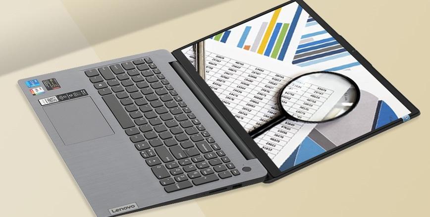 Bản lề laptop Lenovo IdeaPad 3 15ITL6 có thể mở rộng đến 180 độ.
