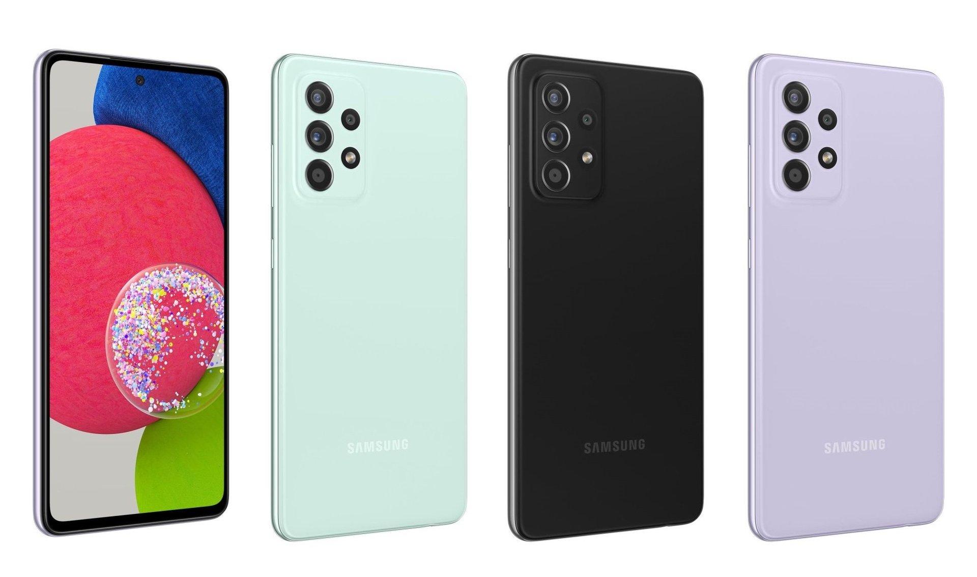 Galaxy A52s 5G có thêm màu xanh bạc hà. Ảnh: Samsung