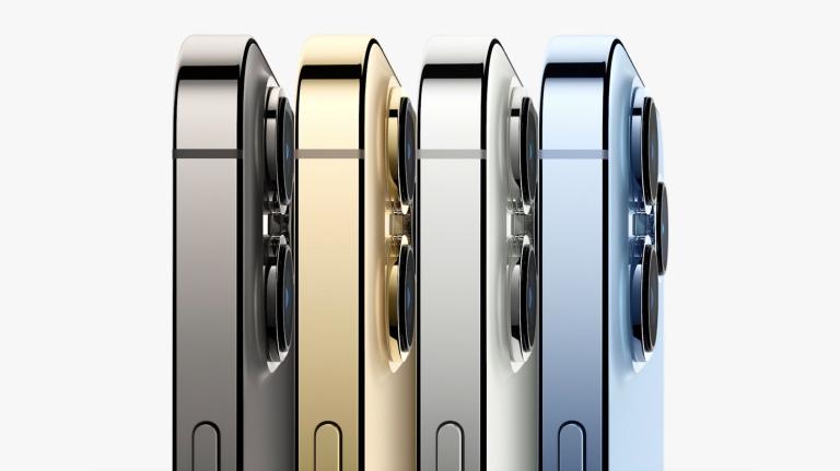 Bốn màu sắc của iPhone 13 Pro. Ảnh: Apple