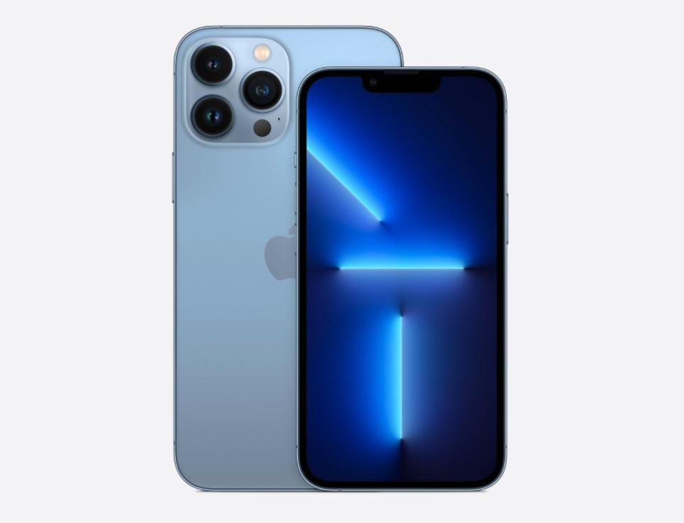 Màu xanh mới trên iPhone 13 Pro và Pro Max. Ảnh: Apple