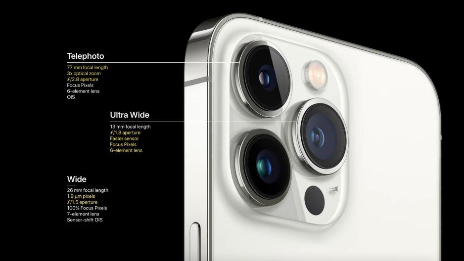 Camera trên iPhone 13 Pro và Pro Max được nâng cấp mạnh cả phần cứng và tính năng. Ảnh: Apple