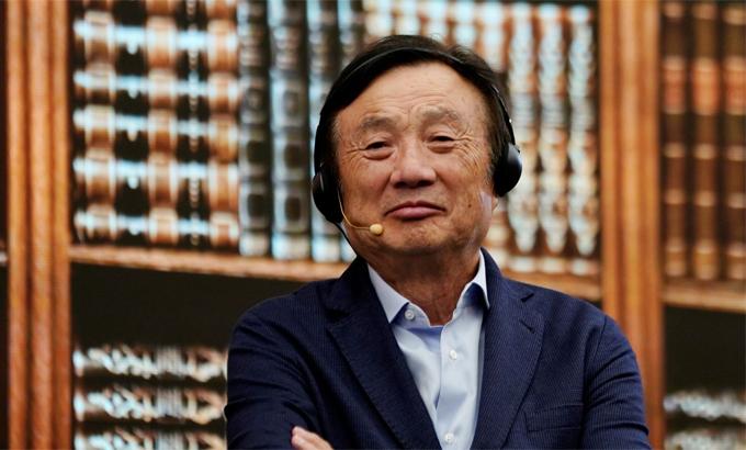 Nhà sáng lập Huawei Nhậm Chính Phi. Ảnh: Reuters