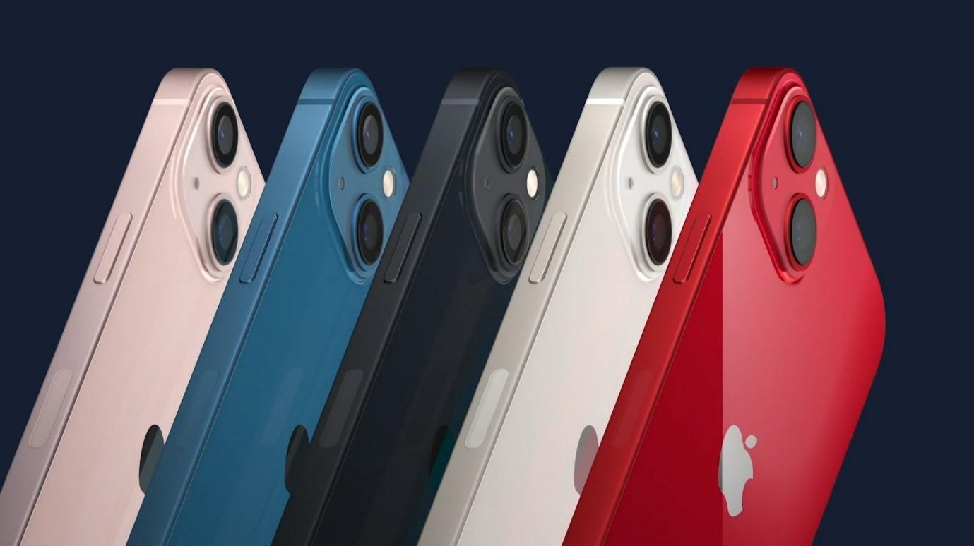 iPhone 13 có rất ít thay đổi về kiểu dáng so với iPhone 12. Ảnh: Apple