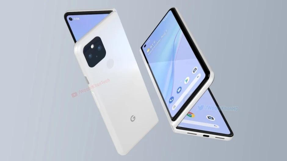 Hình ảnh mô phỏng Google Pixel Fold. Ảnh:Waqar Khan