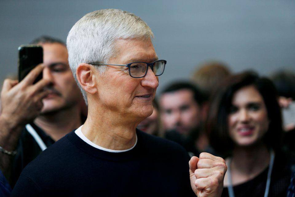 CEO Apple, Tim Cook, tại sự kiện ra mắt iPhone tháng 9/2019. Ảnh: Reuters