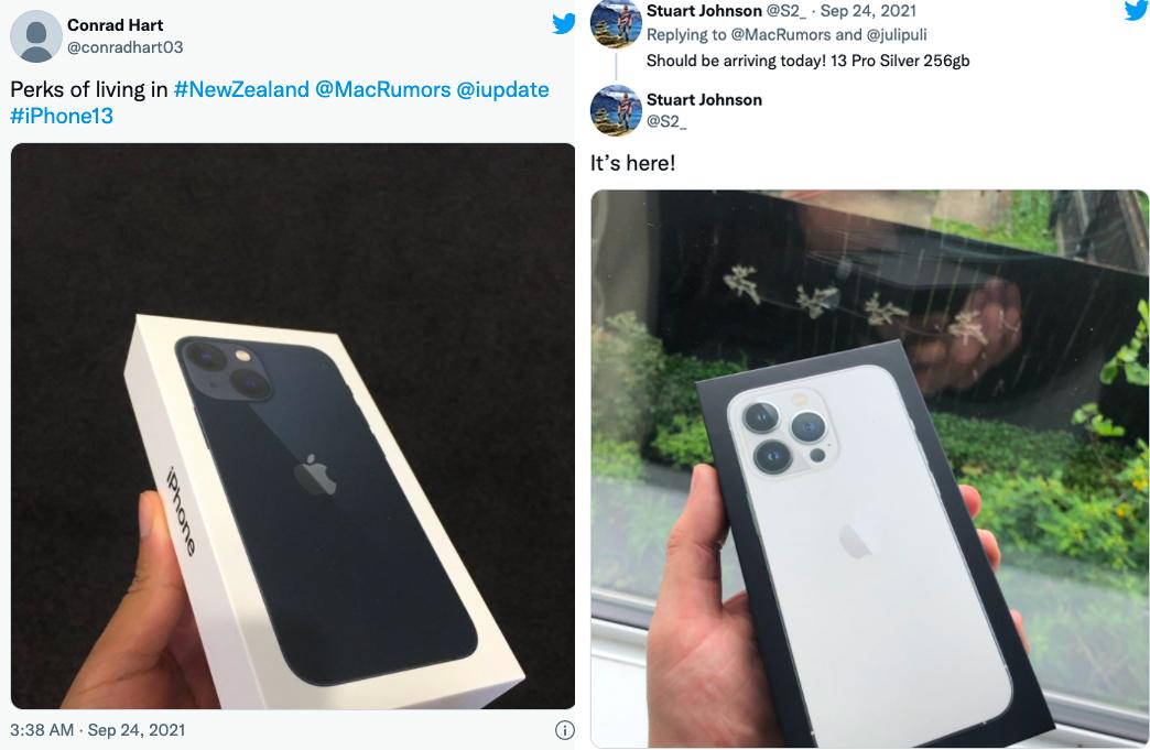 Một số người dùng tại New Zealand khoe iPhone mới.