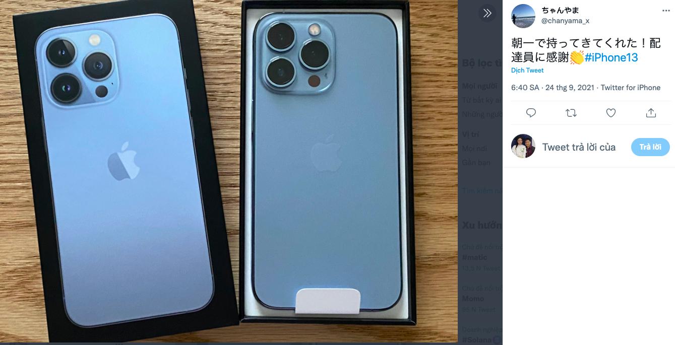 Một người dùng Nhật Bản cho biết đã nhận được iPhone 13 Pro qua hình thức giao hàng.