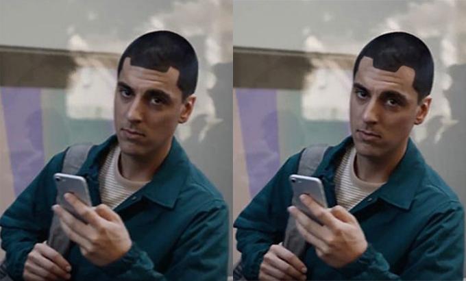 Ảnh chế về về thiết kế mới của phần notch trên iPhone 13. Ảnh: Twiiter