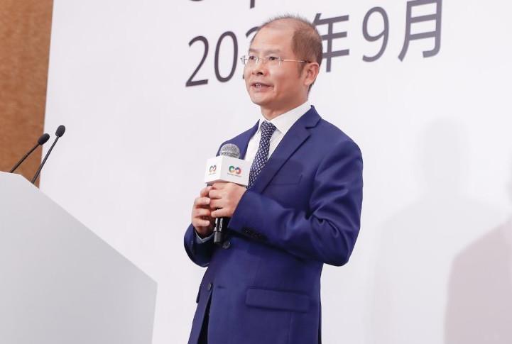 Eric Xu, Chủ tịch Huawei, tại buổi họp báo trực tuyến ngày 24/9. Ảnh: Huawei