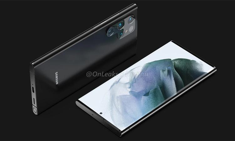 Galaxy Note 22 Ultra sẽ có bút. Ảnh: OnLeaks