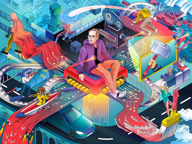 Vũ trụ ảo Metaverse mang lại cho con người tương tác thú vị qua không gian ảo. Ảnh: Washington Post