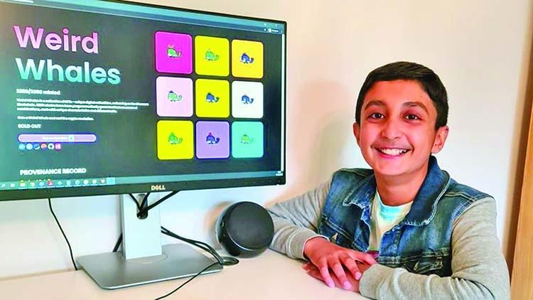 Benyamin Ahmed (trái) và anh trai trên Yusuf Ahmed bắt đầu học lập trình từ khi 5 tuổi dưới sự hướng dẫn của cha là một nhà phát triển web. Ảnh: Imran Ahmed