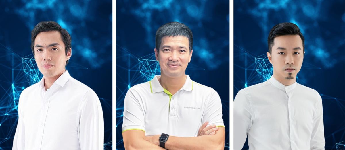 Từ trái qua phải: Huy Nguyễn – Phan Đức Trung - Trí Phạm