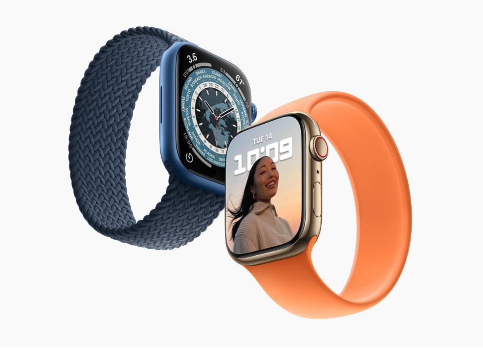 Apple Watch Series 7 nâng cấp mạnh về màn hình và độ bền. Ảnh: Apple