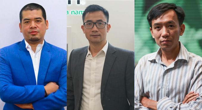 Hai diễn giả của Tech Talks phiên số 8: ông Lê Tùng, ông Hoàng Văn Đại và ông Trần Đức Trung.