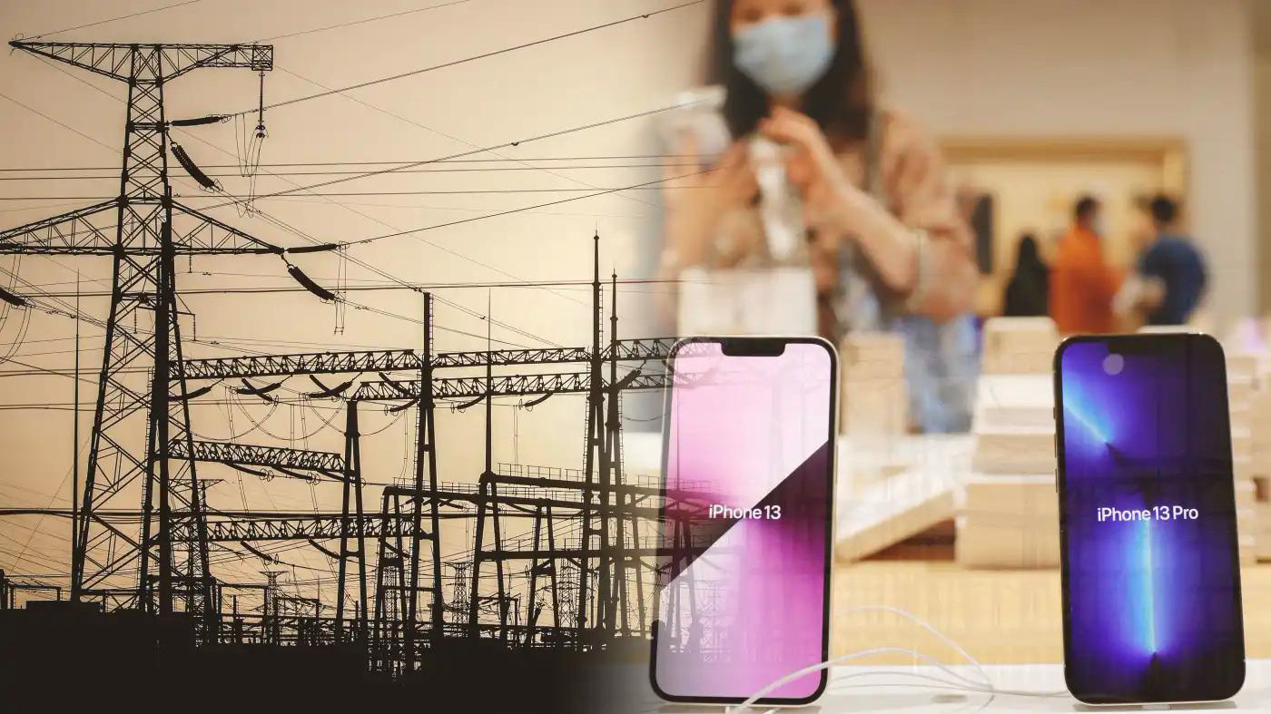 Việc mất điện kéo dài khiến các nhà sản xuất công nghệ phải xem xét lại kế hoạch đa dạng hóa chuỗi cung ứng ngoài Trung Quốc.