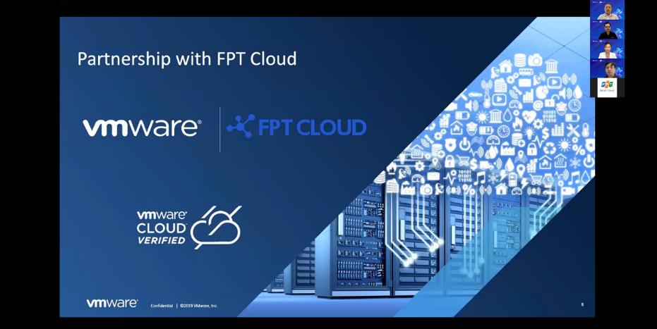 Hội thảo trực tuyến FPT Cloud x VMware: Dẫn đầu chuyển đổi với hạ tầng ưu việt có sự tham gia của nhiều doanh nghiệp.