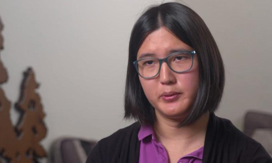Sophie Zhang xuất hiện trên truyền hình hôm 11/10. Ảnh: CNN.