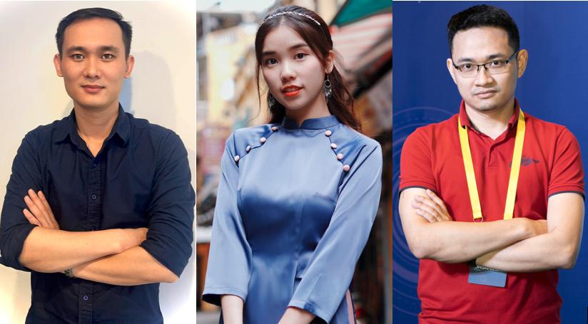 Ba diễn giả tham gia Tech Talks phiên số 9 là ông Trần Văn Cân, chị Trịnh Hà Vi và ông Vũ Tuấn Hưng
